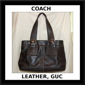 Coach *Final Sale* Black Leather Tote 12303 Purse